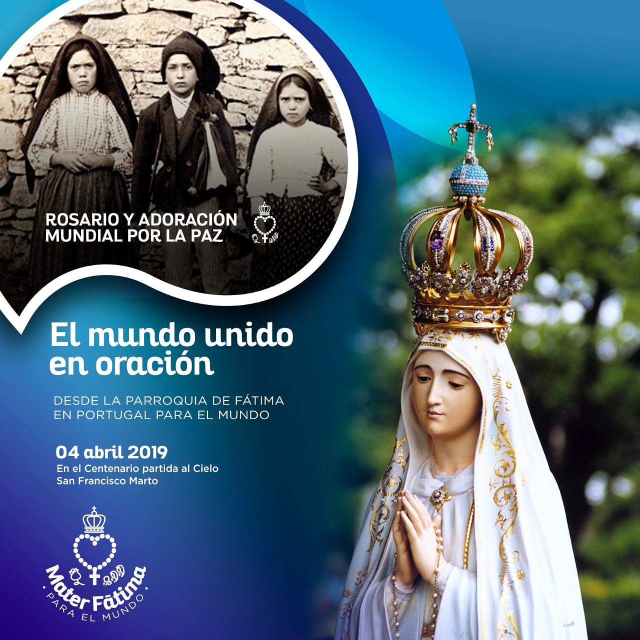 Este 4 de abril unimos nuestros corazones al Santuario de Nuestra Señora del Rosario de Fátima