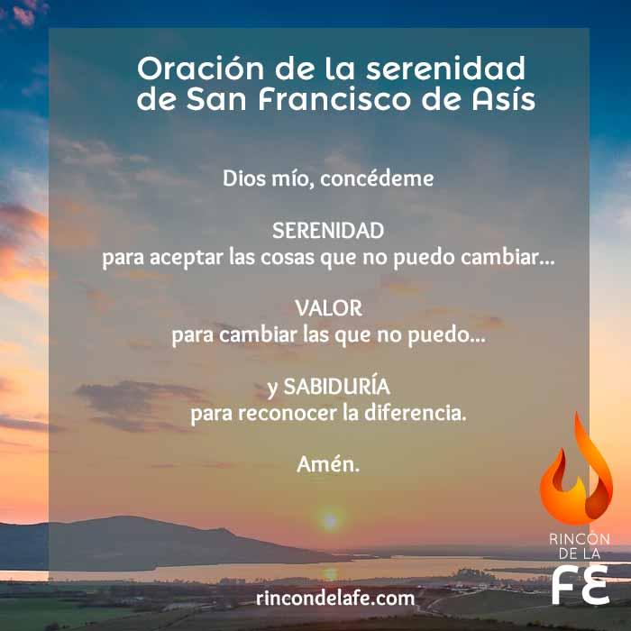Oración De La Serenidad De San Francisco De Asís Unpasoaldia Com