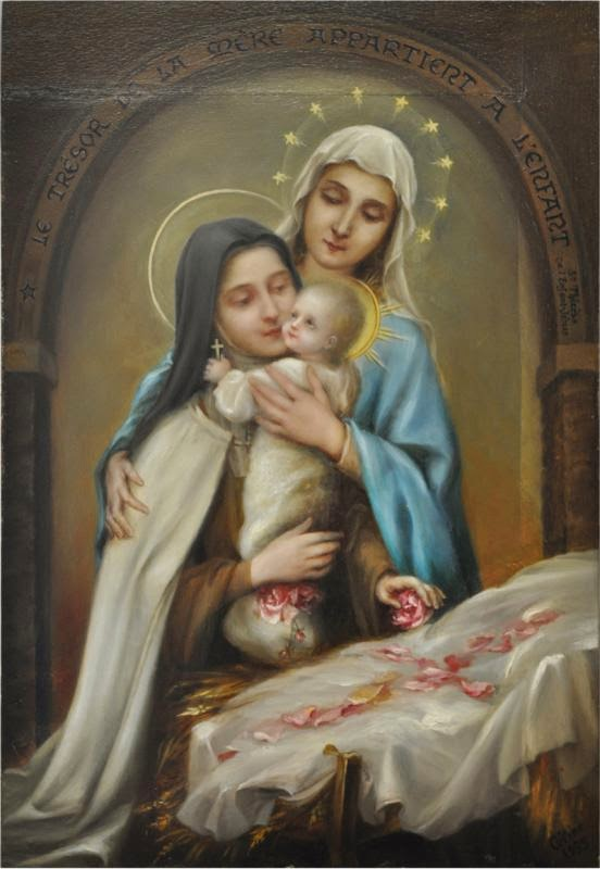 Resultado de imagen para santa teresa y el niño jesus en navidad